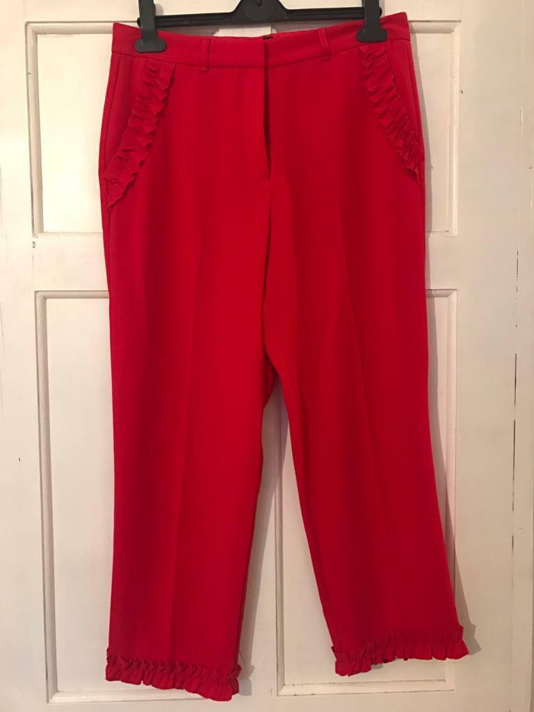 River island red trousers size 12
