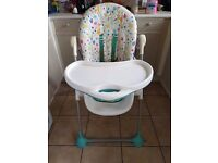 High chair suitable for both boy and girl