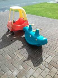 Little tikes coupe & see saw bundle