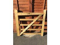 4ft 5 bar wooden pedestrian gate