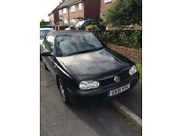 VW golf convertible mk3.5 spares or repair (parts available)