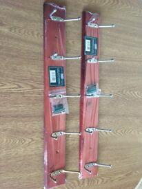Wall Mounted Coat Racks x 2 - Free