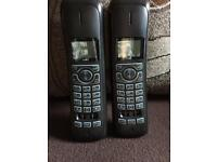 Twin phones with answering machine