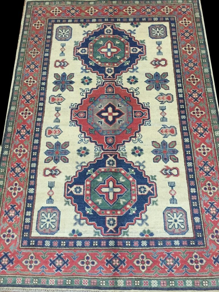 Popular Design New Design Discounted Handmade Rug 4x6 Kazak Technique
