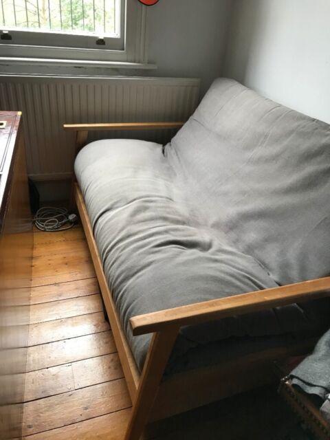 2 Seater Birch Double Sofa Bed Cloudy Grey Futon Cover In Kilburn London Gumtree
