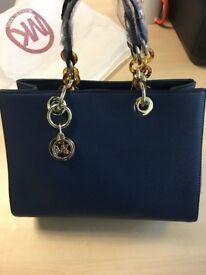 Michael Kors Women's leather Shoulder Bag (Blue)