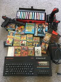 Vintage Sinclair zx spectrum with tons of games and accessories