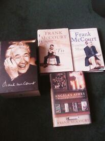 Set of frank mcourt hardback books