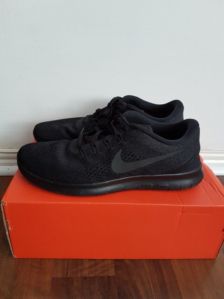 2bf12d5ac8c9e ... free shipping mens nike free run black anthracite trainers running  shoes size 9.5 uk 554b0 8e85c