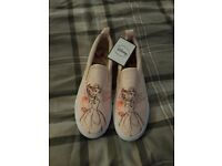 Beauty and the Beast shoes size 3