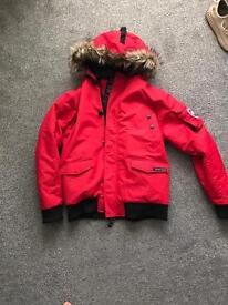 Canada goose red bomber jacket