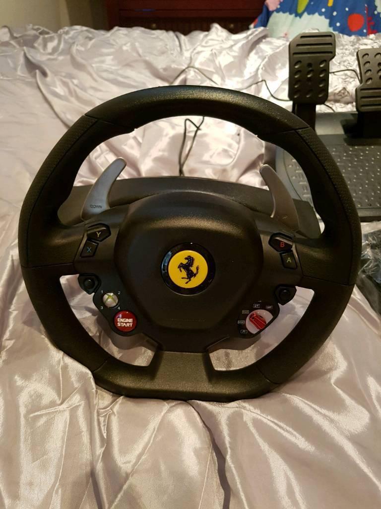 Xbox 360 Thrustmaster Ferrari 458 italia racing wheel
