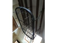 Ceiling Kitchen pan Rack black vintage
