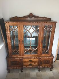 FRENCH SOLID WOOD LARGE SIDEBOARD STORAGE CABINET - EXCELLENT CONDITION