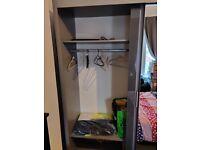 Double mirror slide door wardrobe