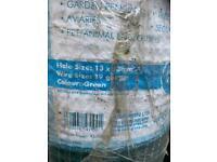 Plastic coated roll of mesh