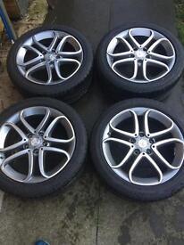 Mercedes A Class alloys + tyres