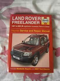 Haynes workshop manual - Landrover Freelander - mint unused