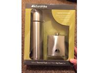 Eurohike Thermal Flask & Hip Flask Gift Set
