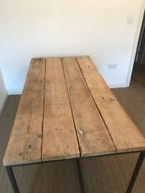 Reclaimed large wooden desk