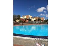 Pool view 2 bed (sleeps 4) holiday home rental Corralejo, Fuerteventura, Canary Islands