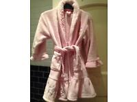Girl's Pink Disney dressing gown size 4-5 Years