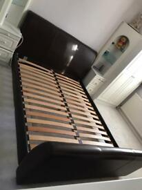 Leather king size bed