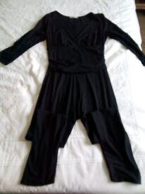 Black jump suit size 10