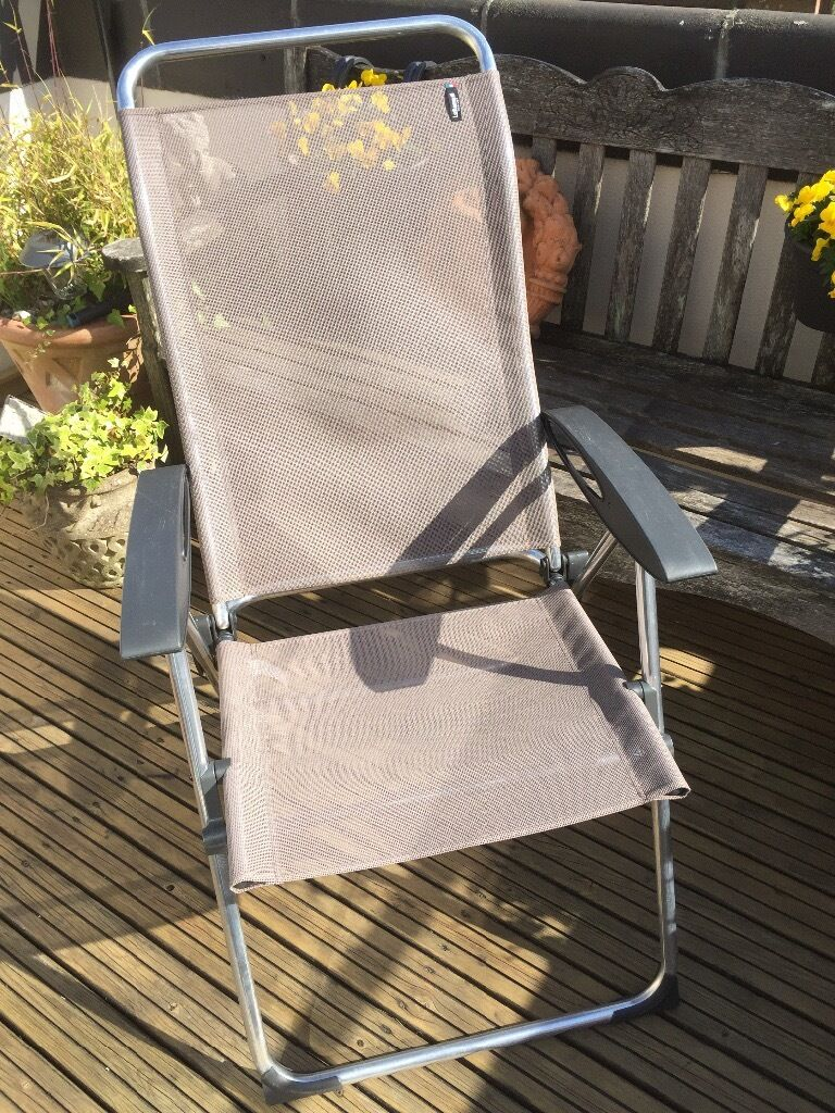 Two Used Lafuma High Back Reclining Chairs In Swanage Dorset