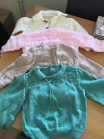 Hand knitted cardi/jumpers