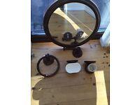 Bathroom accessories mirror etc