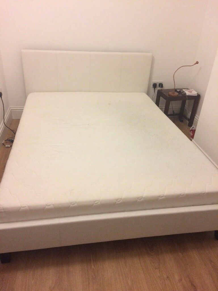 Double bed frame plus mattress