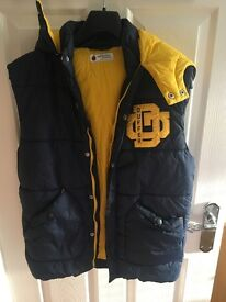Mens Blue And Yellow Duffer Coat