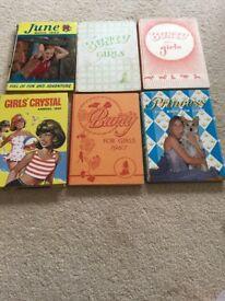Set of 6 girls annuals
