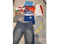 23pc Boys 6-7 bundle of clothes, 2x pair of shoes