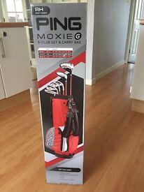 Brand new ping Moxie g junior golf clubs age 8-9