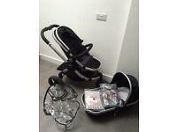Icandy peach jogger - 3 wheel pram pushchair