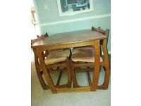 Retro Dining Table and Four Chairs