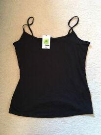 Brand new back M&S vest top size 12