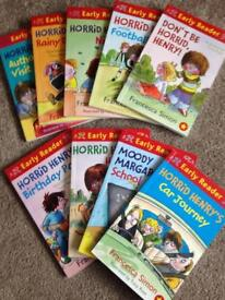 Horrid henry books- set of 9