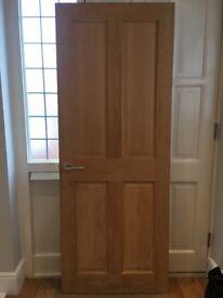 4 panel Oak Veneer Door - Watford