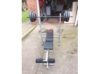 Pro power bench press and 30kg of weights