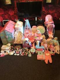 Girls dolls baby Annabel massive bundle
