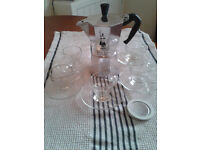 Bialetti coffee machine and designer espresso cups - £15 until end February