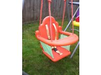 Baby to toddler swing seat