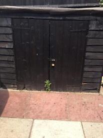 FREE wooden bike garden shed
