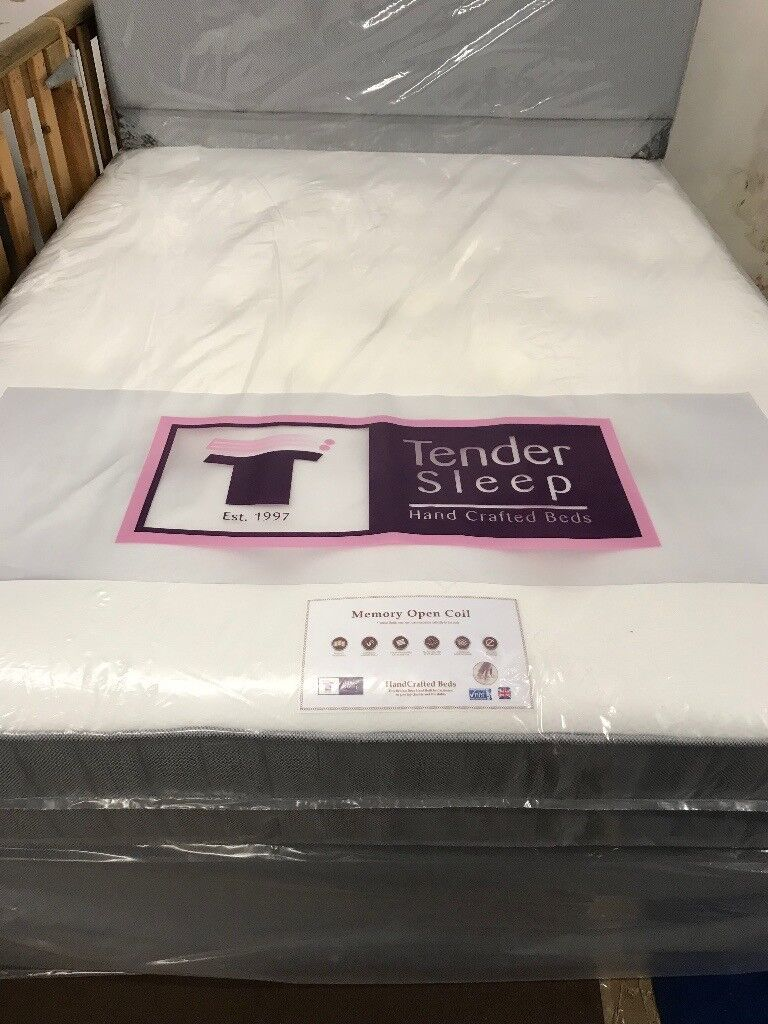Stunning New Double Bed High Quality 10 Inch Thick Sprung Mattress With Memory Foam