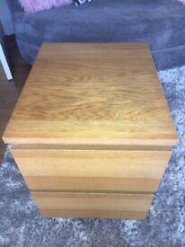 Ikea malm oak bedside table