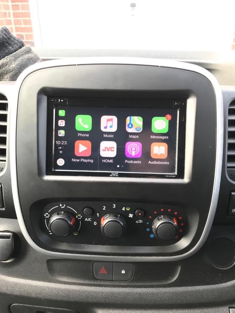 Renault Trafic Vauxhall Vivaro Sat Nav Apple CarPlay Android Auto upgrade  JVC Stereo   in Kingswood, East Yorkshire   Gumtree