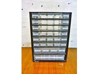 Raaco Metal Wall Hanging Garage Shed 35 Drawer Organiser in Very Good Condition